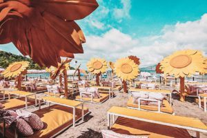 Inflatable Island in Philippines - Sunflower Lounge