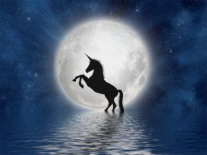 spiritual meaning of unicorns unicorn and full moon