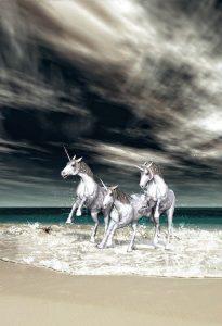 3 Unicorns in Water