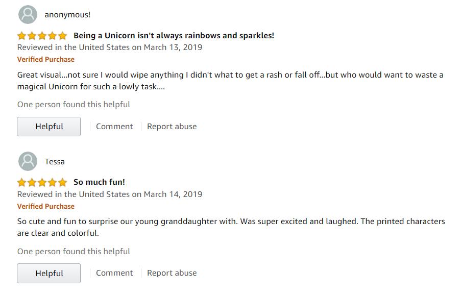 Unicorn Toilet Paper Reviews