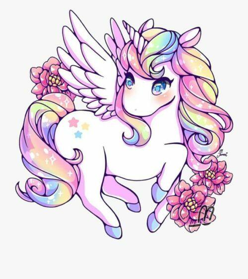 Cute Unicorn Pictures - Pretty Winged Unicorn
