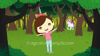 How to Celebrate National Unicorn Day - Girl in Forest