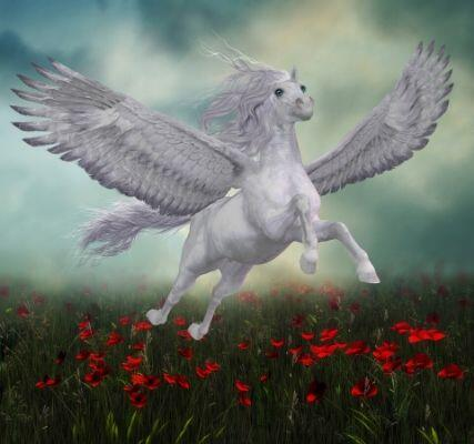 What Is My Pegasus Name? - Pegasus Flying over Flowers
