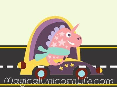 Funny Unicorn Pictures - Unicorn Driving a Car