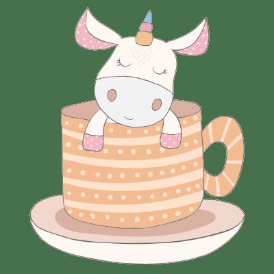 Funny Unicorn Pictures - Unicorn in Tea Cup