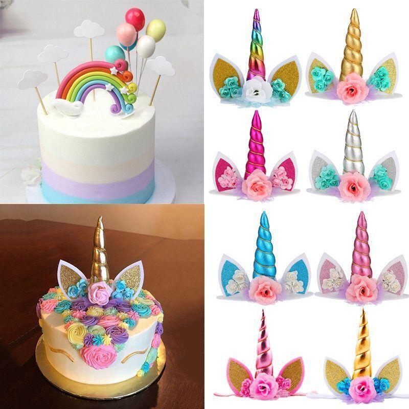 Unicorn Cake Topper Decorations