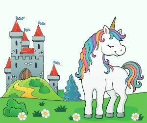 Dreaming Unicorn and Castle