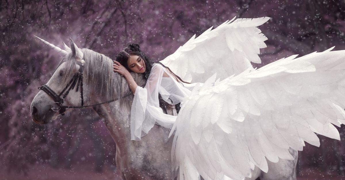 How to Train a Unicorn_ - Woman Riding a Winged Unicorn